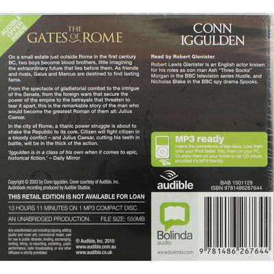 The Gates of Rome : MP3 CD image number 2