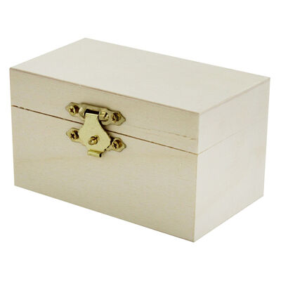 Mini Wooden Rectangle Box image number 2
