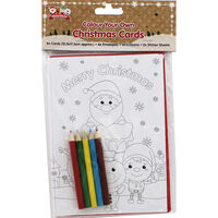 Colour Your Own Christmas Cards - 6 Pack