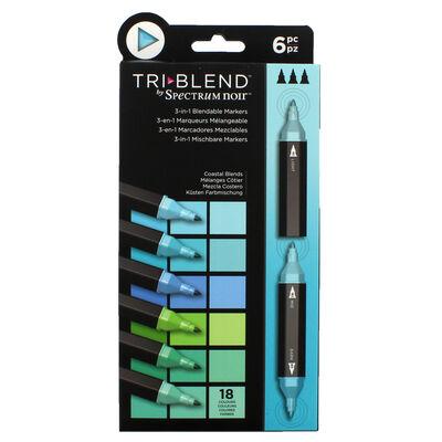 Spectrum Noir TriBlend - Coastal Blends - 6 Pack image number 1