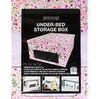 Pink Flower Print Under Bed Collapsible Storage Box image number 4