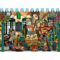 At the Train Station 500 Piece Jigsaw Puzzle