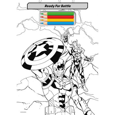 Disney Marvel Tear Off Colouring Pad image number 3