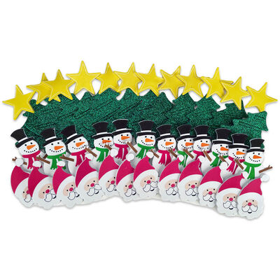 Christmas Foam Stickers: Pack of 50 image number 1