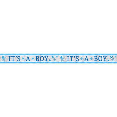 Its a Boy Baby Shower Foil Banner image number 2