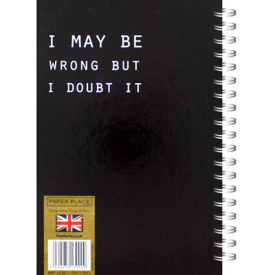 A5 I May Be Wrong Notebook image number 3