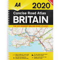 AA: Concise Road Atlas Britain 2020