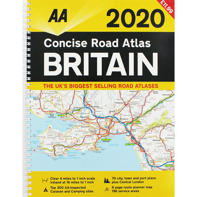 AA: Concise Road Atlas Britain 2020 image number 1
