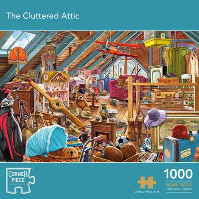The Cluttered Attic 1000 Piece Jigsaw Puzzle image number 1