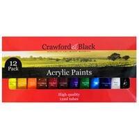 Acrylic Colour Paint - Set Of 12