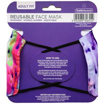 Multi-Coloured Ink Blot Reusable Face Mask image number 2