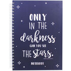 A4 Wiro See the Stars Lined Notebook image number 1