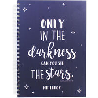 A4 Wiro See the Stars Lined Notebook