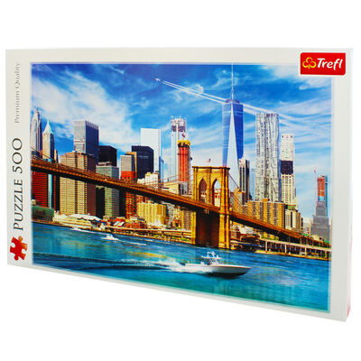 View Of New York 500 Piece Jigsaw Puzzle image number 3