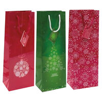 Christmas Bottle Gift Bags: Pack of 6