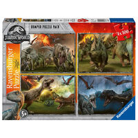 Jurassic World Fallen Kingdom 4-in-1 Jigsaw Puzzle