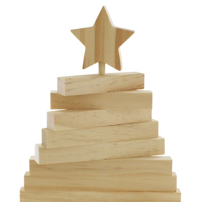 Wooden 3D Christmas Tree image number 3