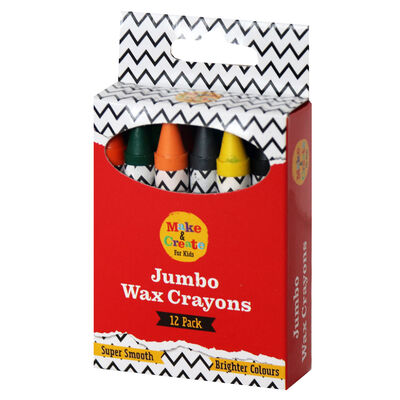 Large Wax Crayons: Pack of 12 image number 1