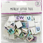 Dovecraft Essentials Metallic Letter Tiles - Iridescent - 150 Pieces image number 1