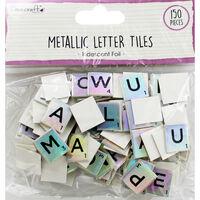 Dovecraft Essentials Metallic Letter Tiles - Iridescent - 150 Pieces