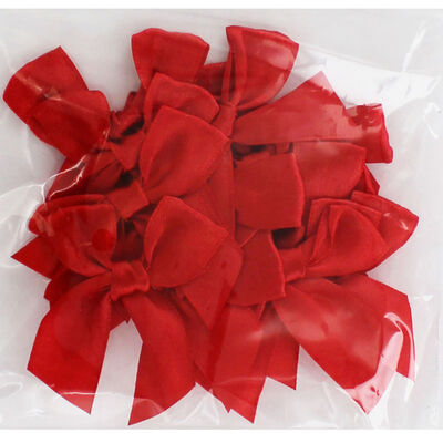 Red Ribbon Bows - Pack Of 15 image number 2