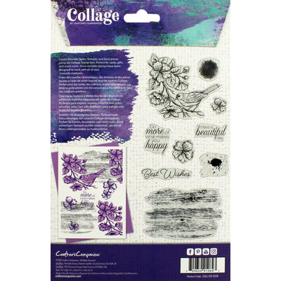 Crafter's Companion Collage Photopolymer Stamp - Feathered Friend image number 3