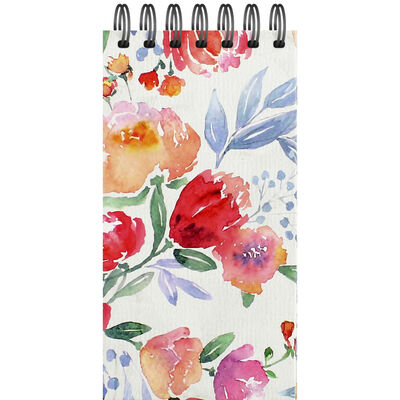 Floral Long Wiro Notepad image number 1