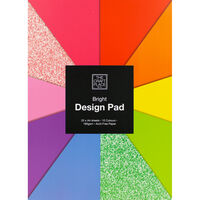 A4 Bright with Glitter Design Pad