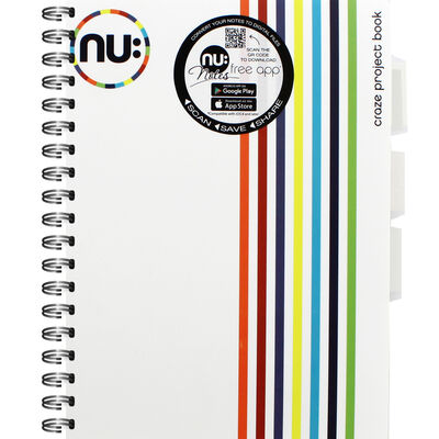 NU A5 Craze Project Book - White image number 1