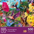 Hummingbirds and Butterflies 500 Piece Jigsaw Puzzle image number 1