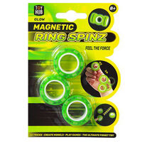 Glow Magnetic Ring Spinz: Pack of 3