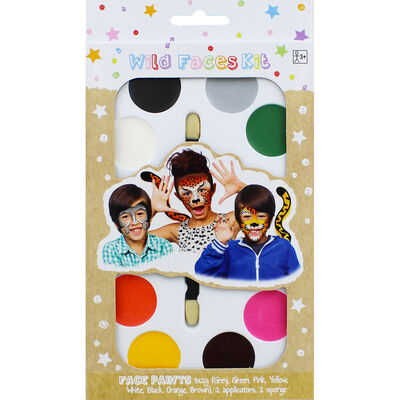 Wild Faces Face Paint Kit image number 1