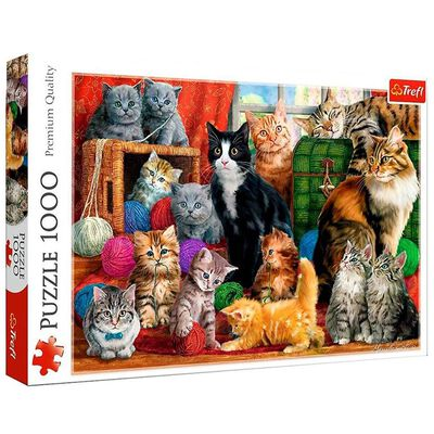 Feline Meeting 1000 Piece Jigsaw Puzzle image number 1