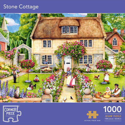 Stone Cottage 1000 Piece Jigsaw Puzzle image number 1