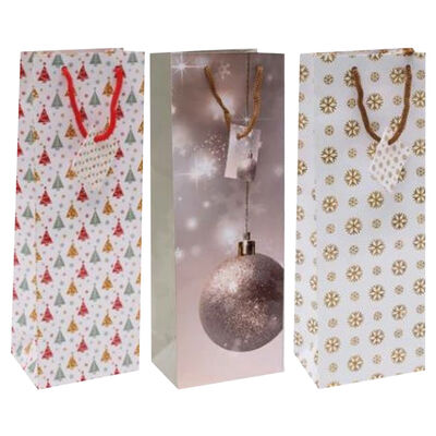 Christmas Bottle Gift Bags: Pack of 6 image number 3