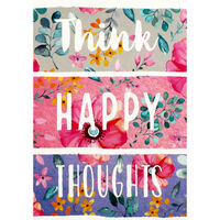 A5 Flexi Think Happy Thoughts Lined Notebook