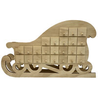 Wooden Sleigh Advent Calendar