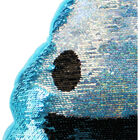 Reversible Sequin Poo Cushion - Blue image number 2