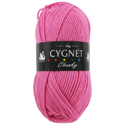 Cygnet Chunky Pink Yarn: 100g image number 1