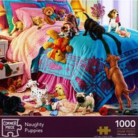 Naughty Puppies 1000 Piece Jigsaw Puzzle