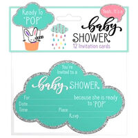 Baby Shower: 12 Invitation Cards