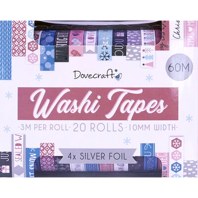 Dovecraft Christmas Fashion Washi Tape Box - 20 Rolls image number 2