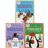 Christmas Sticker Fun: 6 Activity Book Bundle