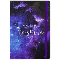 A5 Galaxy Design Lined Case Bound Notebook