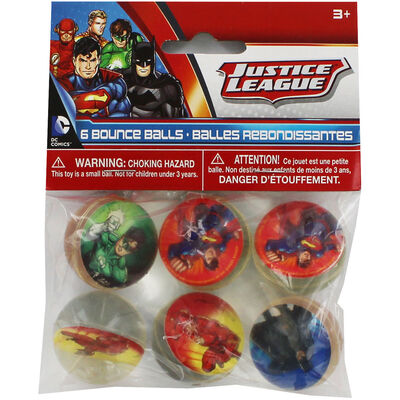 Justice League Bounce Balls - 6 Pack image number 1
