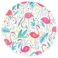 Flamingo Bamboo Eco Plates - Set of 4