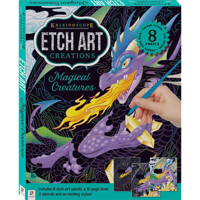Kaleidoscope Etch Art Creations: Magical Creatures image number 1