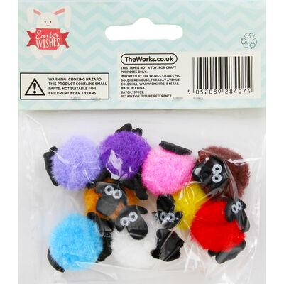Mini Pom Pom Sheep - 10 Pack image number 3