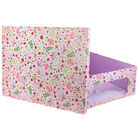 Pink Flower Print Under Bed Collapsible Storage Box image number 2