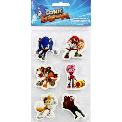 Sonic Boom Eraser Set - 6 Pack image number 1